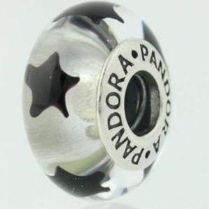 Pandora Murano Glass Bead Black Star 790908 -